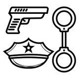 Icône de police illustration stock
