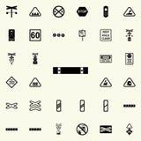 icône de poteau de signalisation d'indicateur d'arrêt Ensemble universel d'icônes ferroviaires d'avertissements pour le Web et le illustration stock