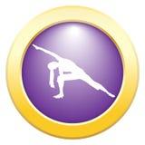 Icône de pourpre de pose d'angle prolongée par yoga illustration de vecteur