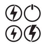 Icône de puissance, icône électrique Vecteur illustration libre de droits