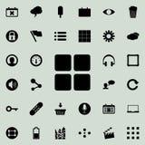 icône de quatre places Ensemble détaillé d'icônes minimalistic Conception graphique de la meilleure qualité Une des icônes de col illustration libre de droits