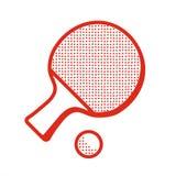 Icône de raquette de tennis de Tabble illustration de vecteur