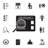 Icône de recherche d'emploi Ensemble détaillé d'icônes de chasse d'heure et de chaleur Signe de la meilleure qualité de conceptio Image stock