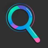 Icône de recherche Style géométrique de gradient d'illustration de vecteur Image libre de droits