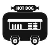 Icône de remorque de boutique de hot-dog, style simple Image libre de droits