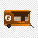 Icône de remorque de café, style de bande dessinée illustration libre de droits