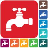 Icône de robinet d'eau illustration libre de droits