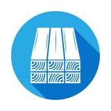 icône de rondins avec la longue ombre Éléments d'icône de constraction avec la longue ombre Signes et icône de collection de symb illustration stock