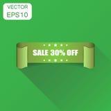 Icône de ruban de la vente 30% Vente de concept d'affaires autocollant l de 30 pour cent Image libre de droits