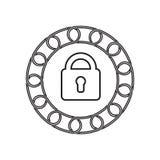Icône de sécurité avec le concept de blockchain Future technologie illustration libre de droits