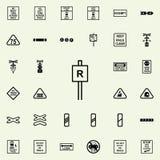 Icône de secteur restreint Ensemble universel d'icônes ferroviaires d'avertissements pour le Web et le mobile illustration libre de droits
