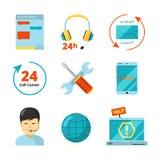 Icône de service client E illustration libre de droits