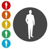 Icône de signe de clients illustration stock