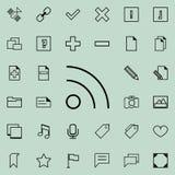 icône de signe de communication Ensemble détaillé d'icônes minimalistic Conception graphique de la meilleure qualité Une des icôn Photo stock