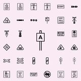 icône de signe d'approche Ensemble universel d'icônes ferroviaires d'avertissements pour le Web et le mobile illustration stock