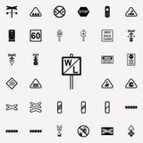 icône de signe d'indicateur de sifflement Ensemble universel d'icônes ferroviaires d'avertissements pour le Web et le mobile illustration de vecteur
