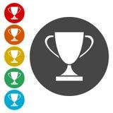 Icône de signe de tasse de gagnant Attribution du symbole de gagnants illustration de vecteur