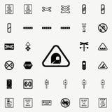 icône de signe de tunel Ensemble universel d'icônes ferroviaires d'avertissements pour le Web et le mobile illustration libre de droits