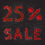 icône de signe de vente de 25% Symbole de remise Vente de Black Friday, saison d Image stock