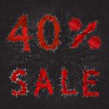 icône de signe de vente de 40% Symbole de remise Vente de Black Friday, saison d Illustration Stock