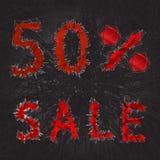icône de signe de vente de 50% Symbole de remise Vente de Black Friday, saison d Photos libres de droits
