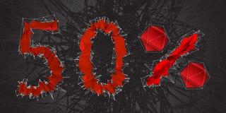 icône de signe de vente de 50% Symbole de remise Vente de Black Friday, saison d illustration de vecteur