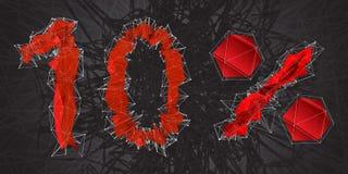 icône de signe de vente de 10% Symbole de remise Vente de Black Friday, saison d Illustration Libre de Droits