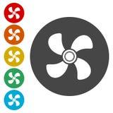 Icône de signe de ventilation Symbole de ventilateur illustration de vecteur