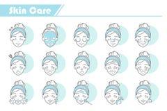 Icône de soins de la peau de beauté illustration stock