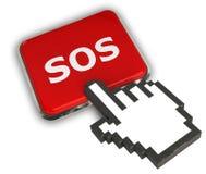 Icône de SOS Images stock