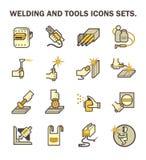 Icône de soudure de travail illustration stock