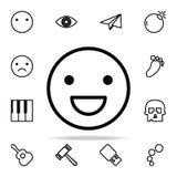 Icône de sourire d'émotion ensemble universel d'icônes de Web pour le Web et le mobile illustration stock