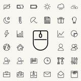Icône de souris d'ordinateur Ensemble détaillé d'icônes minimalistic Conception graphique de la meilleure qualité Une des icônes  Image libre de droits