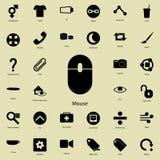 Icône de souris Ensemble détaillé d'icônes minimalistic Conception graphique de la meilleure qualité Une des icônes de collection Images libres de droits