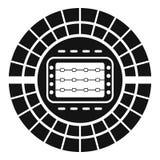 Icône de stade de sport, style simple illustration libre de droits