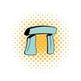 Icône de Stonehenge dans le style de bandes dessinées illustration stock