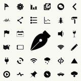 icône de stylo de stylo d'encre Ensemble détaillé d'icônes minimalistic Conception graphique de la meilleure qualité Une des icôn Illustration Libre de Droits