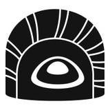 Icône de sushi de Maguro tai, style simple illustration stock