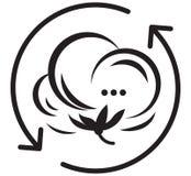 Icône de symbole de coton illustration libre de droits