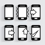 Icône de téléphone dans le style à la mode Illustration Libre de Droits