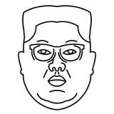Icône de tête du Jong-ONU de Kim Images stock