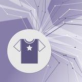 Icône de T-shirt sur le fond moderne abstrait pourpre Les lignes dans toutes les directions Avec la pièce pour votre publicité illustration stock