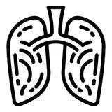 Icône de tabagisme de poumons, style d'ensemble illustration libre de droits