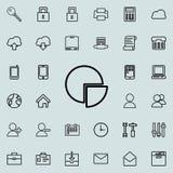 icône de tarte de l'information Ensemble détaillé d'icônes minimalistic Conception graphique de la meilleure qualité Une des icôn Illustration Libre de Droits