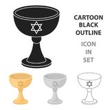 Icône de tasse de vin dans le style de bande dessinée d'isolement sur le fond blanc Illustration de vecteur d'actions de symbole  illustration stock