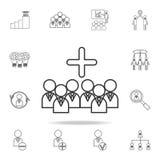 Icône de Team Leader d'affaires de gestion Ensemble détaillé d'icônes d'ensemble de travail d'équipe Icône de la meilleure qualit Photos stock