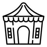 Icône de tente de sortilège, style d'ensemble illustration libre de droits