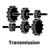 Icône de transmission, style noir simple illustration libre de droits