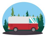 Icône de transport de Van vehicle illustration de vecteur