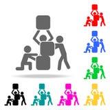 Icône de travail d'équipe Éléments des icônes colorées multi de travail d'équipe Icône de la meilleure qualité de conception grap illustration de vecteur